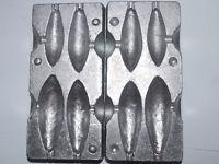 4 in 1 Lead Mould - Distance - 1.5 / 2.5 / 3 & 4oz - Carp coarse