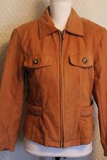 Womens Suede Leather Ladies Jacket Medium USED brown M Georgetown