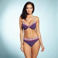 FANTASIE Dublin Halterneck Bikini Top & Brief Set Plum 32DD/UK 8 NEW