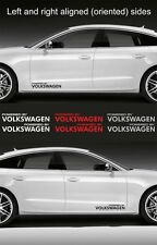"2Pcs Powered By Volkswagen 15"" Wide Vinyl Decal Logo Sticker"