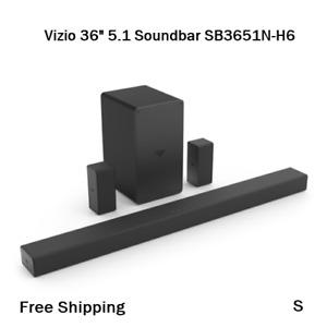 "New, Vizio 36"" 5.1 Soundbar w/ Bluetooth SB3651N-H6, Black."