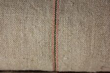 Grainsack fabric grain sack material hemp Pink green stripe Linen upholstery 1Yd