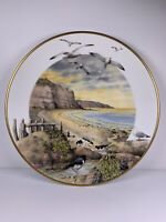1979 Franklin Porcelain February On The Coast Collector Plate By Peter Banett