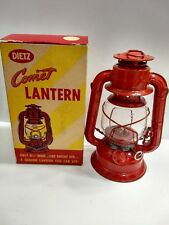 Vintage Red DIETZ COMET Kerosene Lantern With Box