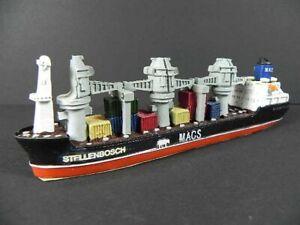 Ship Model Cargo Ship Stellenbosch Freighter, 7 1/8in Polyresin, Miniature Item