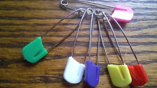 Mixed  Coloured  Nappy Pins 40mm ,can be used as  Craft clips