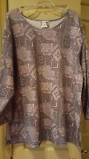 Woman's Pullover Top Katelyn Rose Gray Geometric Sz. 2X NWOT