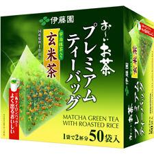 Itoen Oi Ocha Matcha Green Tea with Roasted Rice Premium 50 Tea Bags Free Ship!