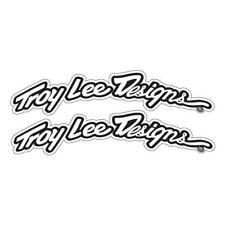 Troy Lee Designs Arced Fender Decal Set Black/White (903036000)