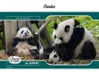 Sierra Leone - 2019 Panda Bears - Stamp Souvenir Sheet - SRL190102b