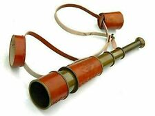 Folding Telescope Antique Vintage Brass Telescope with Leather case Finish Gift