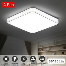 2X 24W LED Ceiling Down Light Dimmable Flush Mount Kitchen Lamp Home Fixture US