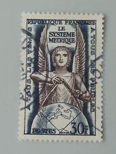France 1954 YT 998 oblitéré le système métrique