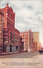 Des Moines IA~Horse & Buggy~Kirkwood Cafe~Davidson's Furniture Store~Postcard