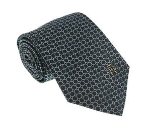 Roberto Cavalli ESZ020 04000 Green/Blue Micro Geometric Tie