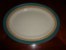 Losol Ware Keeling And Co Ltd CLAREMONT Green Circa 1930's? Huge Platter #2