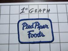 """Vintage Company Logo Patch - """"Pied Piper Foods""""  - NOS Mint"""