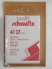 Hawid Clear Stamp Mounts 41/27 40 Pieces Back Opening UN New (m18)