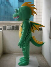 Professional New Big Green Fly Dragon Mascot Costume Fancy Dress Adult Size