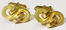 bouton de manchette tibi homme bijou vintage déco désign relief couleur or  2374