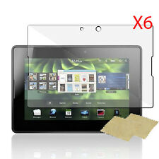 6pcs Ultra Smooth Clear Screen Protector Film for RIM Blackberry Playbook Tablet