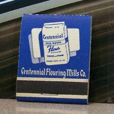 Vintage Matchbook Circa 1940 G8 Spokane Washington Centennial Flour Mills Co