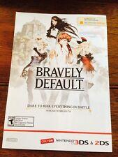 Bravely Default Promo Poster Flyer (5 x 7) Nintendo Square Enix 3DS