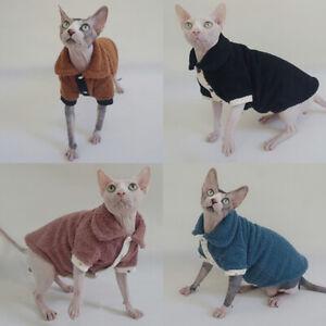 Sphynx Cat Clothes Winter Thick Soft Velvet Three-Layer Hairless Cat Pajamas