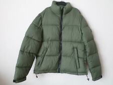 Mens Zara Man Khaki Green Coloured Puffer Quilted Jacket Size: XL