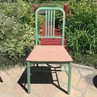 """Vintage Simmons Metal Chair DuPont Dulux Parker Bonderite MCM Art Deco 34""""H"""