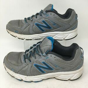 New Balance 402 Trail Running Shoes Sneakers Mesh Memory Foam Gray Blue Womens 8