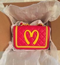 Moschino Couture Jeremy Scott McDonalds Fast Food Quilted Shoulder BAG MSRP$1250