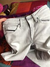Diesel Black And Gold Coated Jeans Size:6 L:34 New