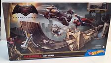 Hot Wheels Batman v Superman: Dawn of Justice Batmobile City Chase Playset NEW!