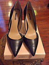 "BCBGeneration Black Leather ""Tanlee"" Pumps - Size 12M"