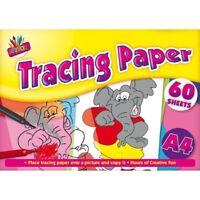 A4 Tracing Paper Pad Art Crafts School 60 x Sheets