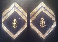 ✚0388✚ German BUNDESWEHR Navy Logistics Staff Duty insignia sleeve patch PAIR