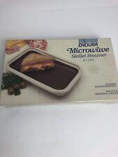 Vintage Endura Microwave Skillet Browner 11x6.5 Model 1050