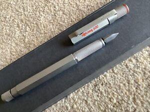 rOtring 600 Hexagonal Fountain Pen with Knurling EF Steel Nib ~ Never used