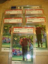2001 Upper Deck Tiger Woods rc rookie PSA 8 Investment lot All 5 of them