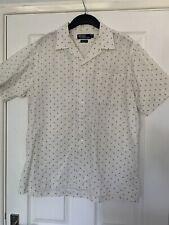 Polo by Ralph Lauren Men's Blue Geometric Short-Sleeve Clayton Cream Shirt M