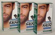 Pourjust for Men Moustache Barbe & Favoris Naturel Foncé Brun-noir