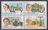 CANADA #879-882 17¢ Canadian Feminists Block Mint Never Hinged - B