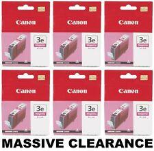*CLEARANCE* 6 x Genuine/Original Canon Ink Printer Cartridges BCI-3M 3e Magenta