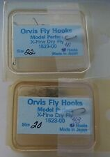Lot 84 Pcs. Orvis 1523 Model Perfect Dry For Fly Tying Hooks Material Supplies