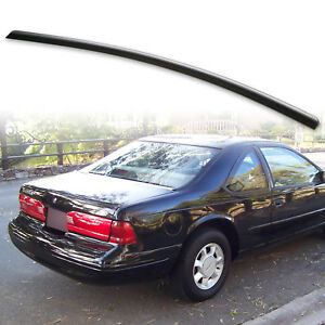 Fyralip Trunk Lip Spoiler For Ford Thunderbird 10th 89-97 Unpainted Matte Black