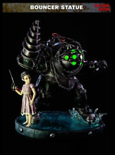 """Bioshock Big Daddy Bouncer EXCLUSIVE Statue Light Up + Little Sister 20"""" Poly"""