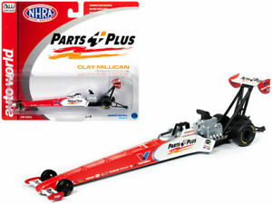 Clay Millican 2019 Autoworld NHRA Parts Plus Top Fuel Dragster 1/64 FREE SHIP!