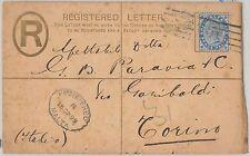 51898 - MALTA -  POSTAL HISTORY -  STATIONERY Registered Letter to ITALY 1899
