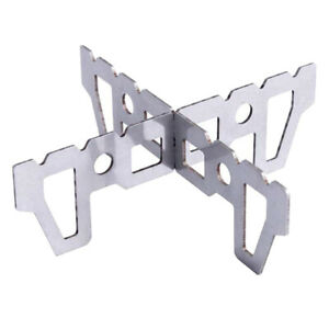 New Outdoor Titanium Alcohol Stove Portable Mini Cross Stand Rack Support Stand